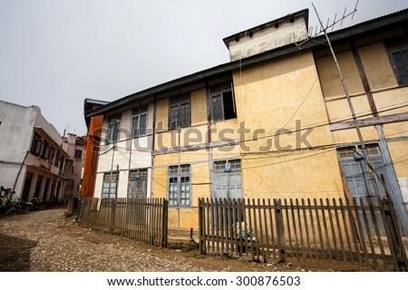 Falam Town Centre, Chin State, Western Myanmar (Burma) - stock photo
