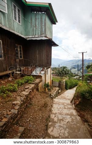 Falam Town , Chin State, Western Myanmar (Burma) - stock photo