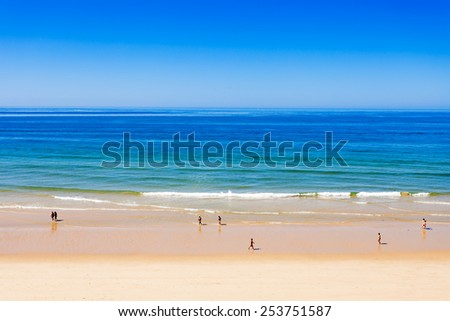 Falesia beach in Albufeira, Algarve region, Portugal - stock photo