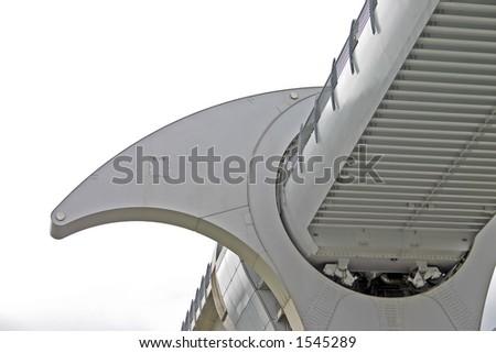 Falkirk Wheel in Scotland UK - stock photo