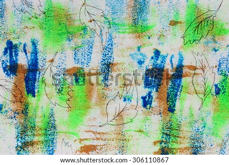 Fall background, Spring or Colorful background, Interesting backgrounds, Postcard design, Creative thinking, Drawing school, Creative background, Be creative, Create, Art, Positive abstract art - stock photo