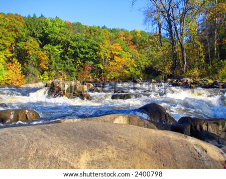 Fall foliage in New England - stock photo