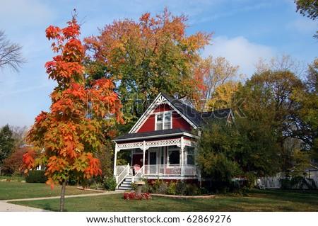 Fall in Illinois - stock photo