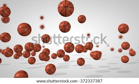 Falling balls. 3D rendered illustration. - stock photo