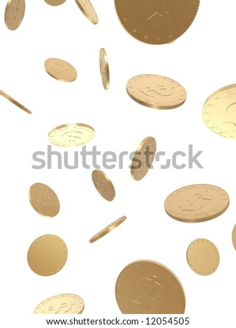 falling coins - stock photo