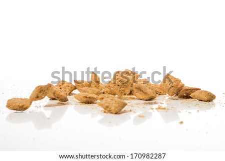 falling cookies on white background - stock photo