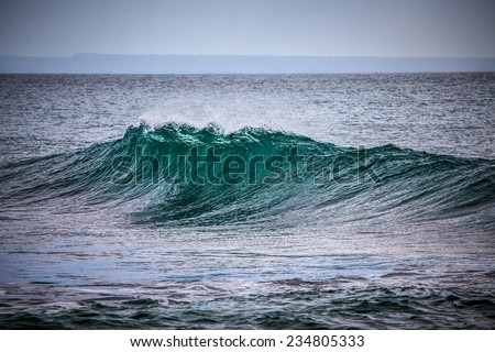 Falling ocean wave - stock photo