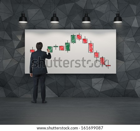 Falling prices - stock photo