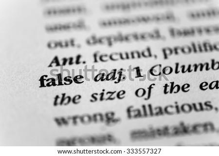 False - stock photo