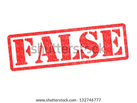 FALSE Rubber Stamp over a white background. - stock photo