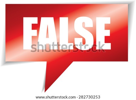 False speech bubbles red square template | business banner with symbol icon. - stock photo
