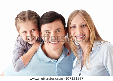 Families on a white background - stock photo