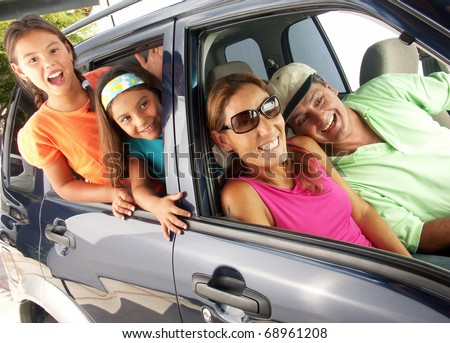 Family car travel. - stock photo