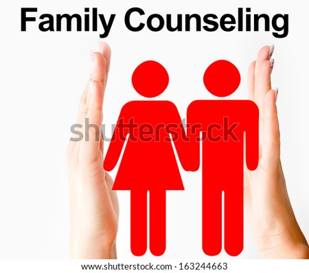 Family counseling concept - stock photo