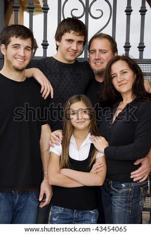 Family group shot - stock photo