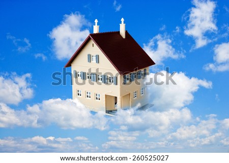 family house as a dream - stock photo