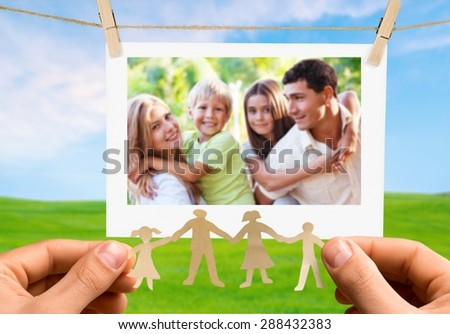 Family, Human Hand, Protection. - stock photo