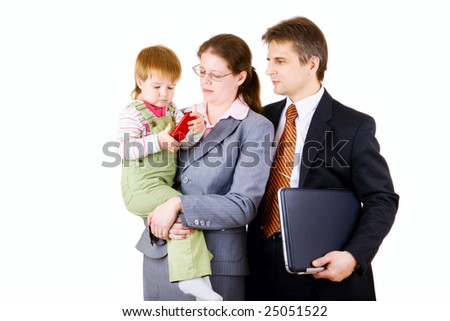 family in business - stock photo