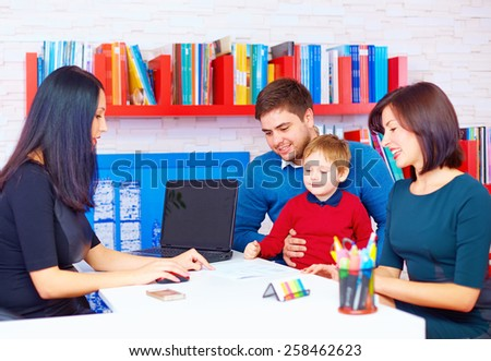 family in office, at the professional - stock photo