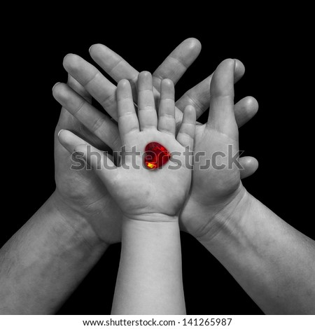 Family love - stock photo