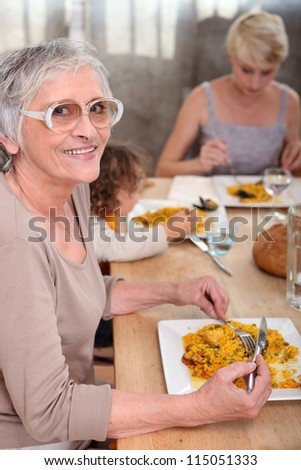 Family meal - stock photo