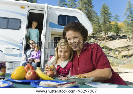 Family on Vacation - stock photo