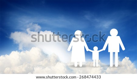 family paper, insurance concept - stock photo