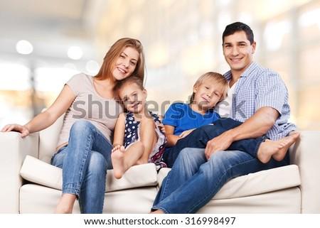 Family portrait. - stock photo