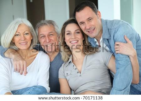 Family portrait - stock photo