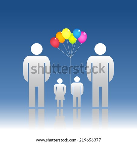 Family same gender - stock photo