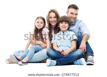 Family sitting together  - stock photo