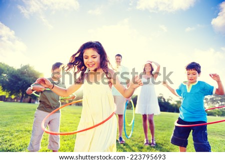 Family spending quality time in the park. - stock photo