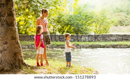 Family time - stock photo