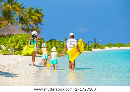 Family vacation - stock photo