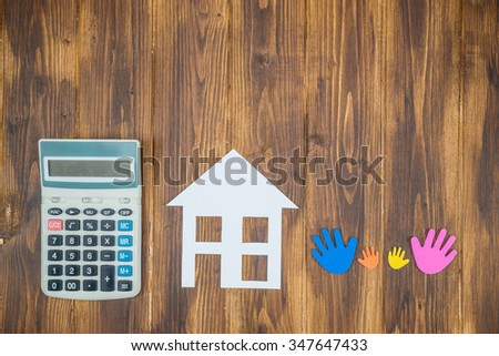 family want to buy a new house concept - stock photo