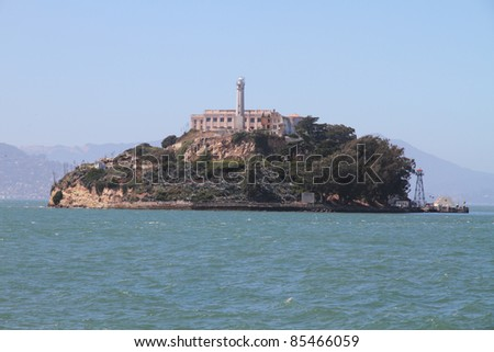 Famous Alcatraz island in San Francisco - stock photo