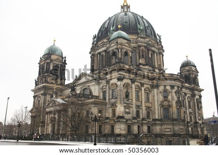 Famous Berlin Dom in Germany - stock photo