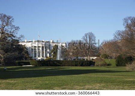 Famous building White House in Washington DC. Presidential residence - stock photo