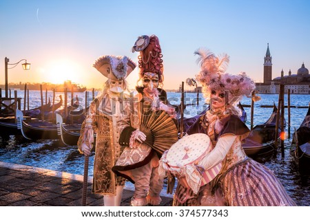 Famous carnival in Venice, Italy - stock photo