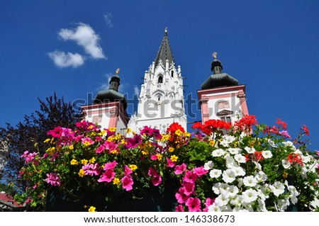 Famous Church in Mariazell Styria, Austria  - stock photo