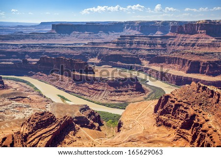 Famous Dead horse point state park, USA - stock photo