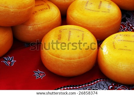 famous dutch cheese - stock photo