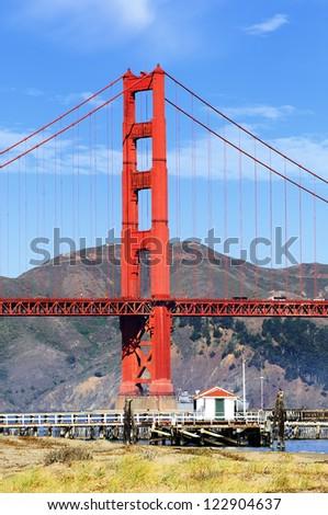 famous Golden Gate Bridge, San Francisco by day, USA - stock photo
