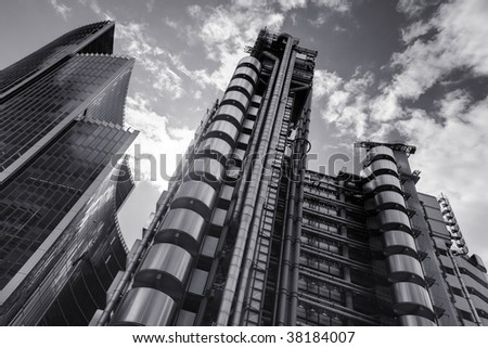 Famous Lloyd building in Central London, UK - stock photo