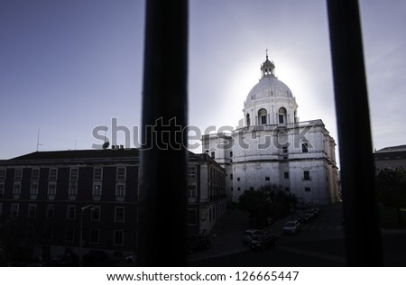 Famous Pantheon or Santa Engracia church in Lisbon, Portugal - stock photo