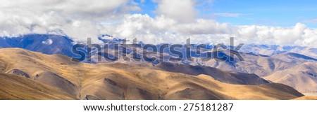 Famous pass at Tibet - stock photo