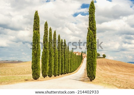 Famous places in the beautiful Tuscany - stock photo