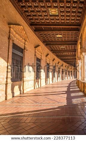 Famous Plaza de Espana, Sevilla, Spain - stock photo