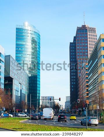 Famous Potsdamer platz  - financial district of Berlin, Germany - stock photo