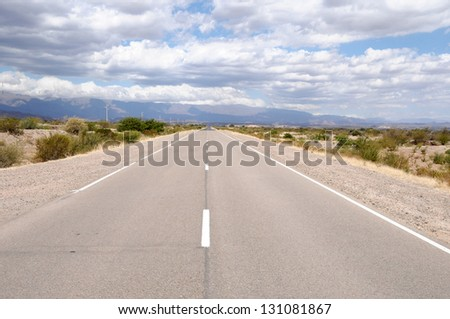 "Famous road ""Ruta 40"" North Argentina - stock photo"